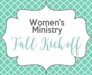 Women's Ministry Fall Kick Off